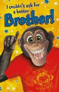 Humorous Brother Monkey Birthday Card